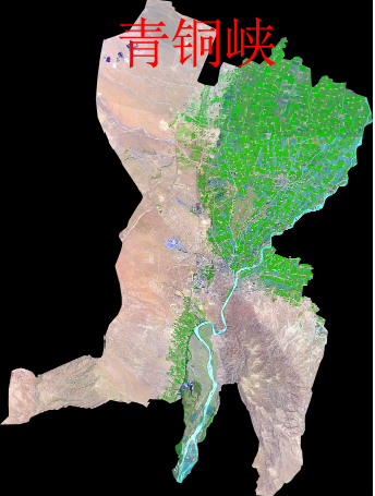 宁夏SPOT 5 高分辨率遥感卫星影像